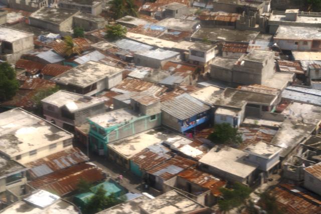 Haitian slum from above