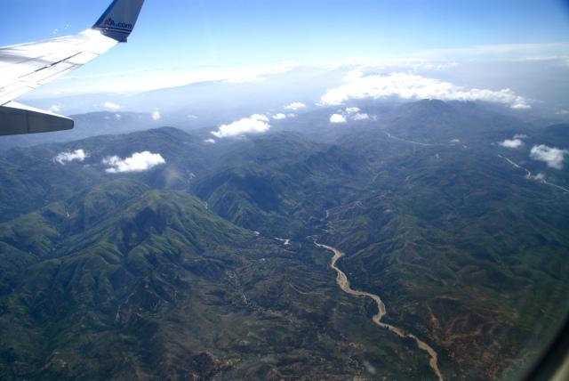 haiti from plane
