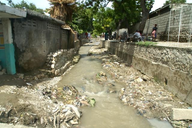 Haitian town water