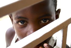Haitian boy eyes