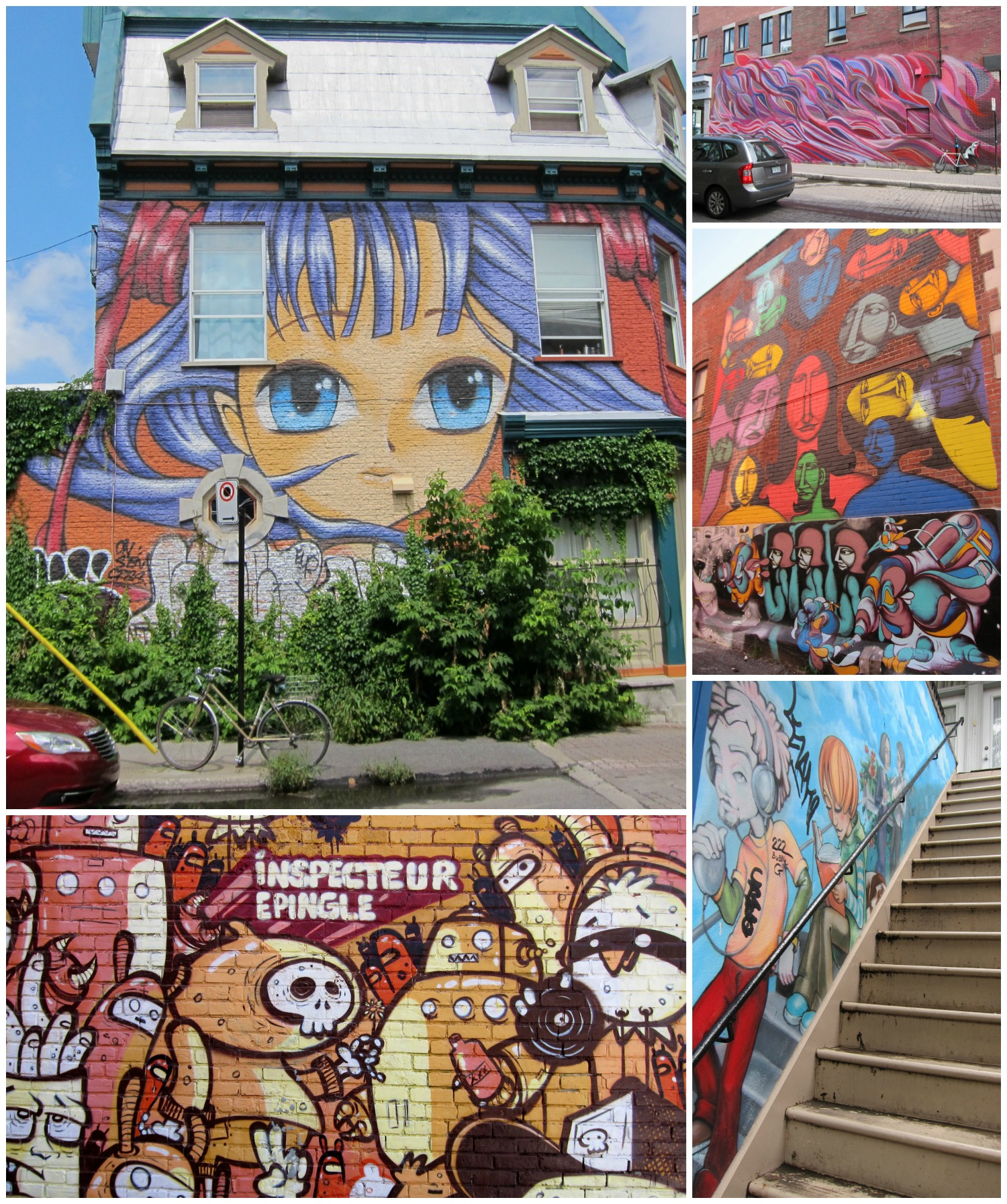Montreal how i love thee intentional travelers for Mural collage