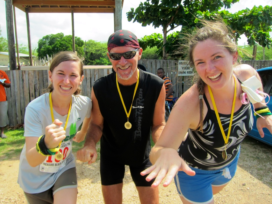Peace Corps relay team: Swim, Bike, Run