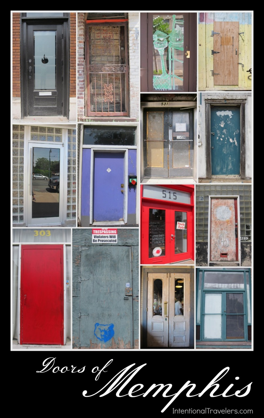 Doors of Memphis | Intentional Travelers