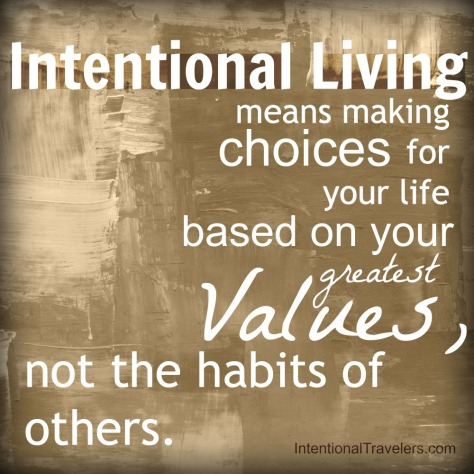 intentional living quote | Intentional Travelers