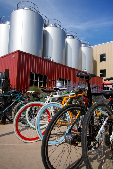 Bikes at Odell Brewery