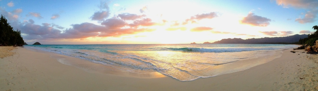 Early morning at Bellows Beach on Oahua