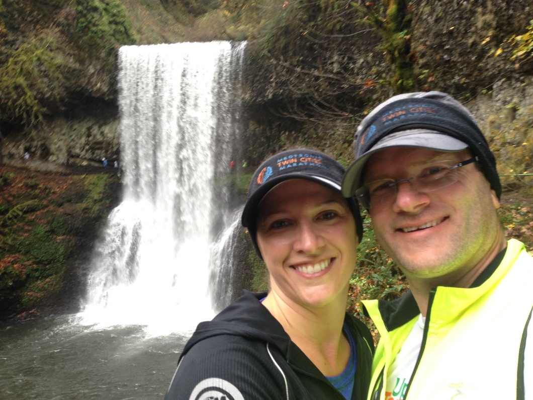 Trail run in Silver Creek - Oregon